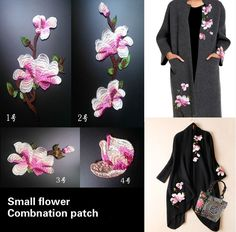 1 Pack ( 4 Pc ) Combination Patch lace small flower collar lace applique embroidery fabric 3D DIY sew clothing accessories NO064-in Lace from Home & Garden on Aliexpress.com | Alibaba Group