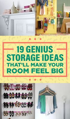 19 Genius Storage Ideas Everyone With A Tiny Room Will Appreciate Dorm Room Orga. 19 Genius Storage Ideas Everyone With A Tiny Room Will Appreciate Dorm Room Organizations Genius Id Bedroom Storage For Small Rooms, Small Bedroom Organization, Organization Hacks, Organizing, Tiny Bedrooms, Home Design, Design Ideas, Shabby Chic Salon, Dorm Walls