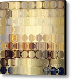 Circles And Squares 37. Modern Abstract Fine Art Canvas Print / Canvas Art By Mark Lawrence