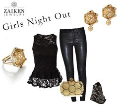 Something really special happens when a great group of ladies get together and make a night out.  Whether its shaking it up on the dance floor or enjoying a tasting menu at a posh dinner, this look is elegant and edgy.  For nights that the summer heat is too much,  pull your hair back and show off your studs.  Where's your next girl's night out?  http://zaikenjewelry.com/blog/