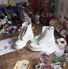 DIY Docs: Liisa Chisholm's illustrated 1460 boots. Photographed by Alec Mcleish.
