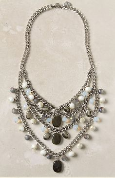 Chain and bead statement necklace