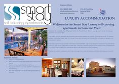 Cape Town - Somerset West. Current special. Book 2 nights and receive the 3rd free. From R950 for 2 people sharing. DSTV, WiFi, Pool, Bbq. Close to beaches & wineries. info@smartproperties.co.za **27832859869 #holiday #Accomodation Cape Town Accommodation, Luxury Accommodation, Somerset West, Wineries, Beaches, Catering, Wifi, Bbq, Places To Visit