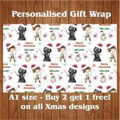 Personalised UNICORN17 Birthday Wrapping Paper with 2 tags