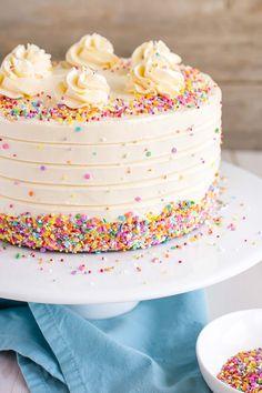Amazing Image of 8 Inch Birthday Cake Recipe . 8 Inch Birthday Cake Recipe Vanilla Cake With Vanilla Buttercream Liv For Cake Hazelnut Cake, Chocolate Hazelnut, Chocolate Cake, Earl Grey Kuchen, Food Cakes, Cupcake Cakes, Bolo Tumblr, Best Vanilla Cake Recipe, Vanilla Cupcakes