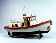 Hobbymasters has the Dumas Victory Tug Boat Wood Model Kit Wooden Model Boat Kits, Wooden Model Boats, Wooden Boat Building, Boat Building Plans, Wood Boats, Boat Plans, Make A Boat, Build Your Own Boat, Plywood Boat