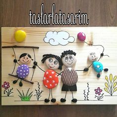 Pebbles: 25 ideas for creative art inspiration - Pebble art The Effective Pictures We Offer You About ideas manualidades A quality picture - Painting For Kids, Diy Painting, Painting On Wood, Art For Kids, Kids Crafts, Diy And Crafts, Arts And Crafts, Pebble Painting, Pebble Art