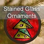 Making stained glass ornaments from recycled plastic and black construction paper.