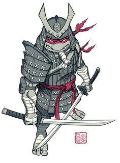 TMNT - Samurai Rapheal, and Teenie Muant Ninja turtles! Ninja Turtles Art, Teenage Mutant Ninja Turtles, Tmnt 2012, Ninga Turtles, Leonardo Tmnt, Avengers, Samurai Art, Anime, Comic Books Art