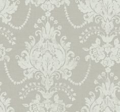 Damask White Grey - For the powder room