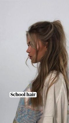 Hairstyles For School, Hairstyles Haircuts, Hairdos, Aesthetic Hair, Dream Hair, Hair Inspiration, Hair Inspo, Hair Videos, Hair Highlights