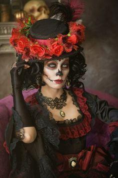 Sé que no es de Halloween, es de Día de Muertos, pero es que es hermosa *w*