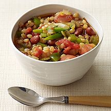 Vegetarian Wheat Berry Minestrone - I have a minestrone recipe I like already, but I'm going to try subbing wheat berries for pasta as I think they'll stand up to the broth better as leftovers. Good idea!