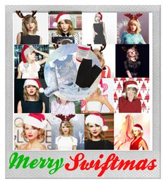 """""""Merry Swiftmas"""" by sydneyswiftt ❤ liked on Polyvore featuring art"""