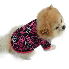 Morecome Pet Puppy Spring Warm Sweatshirt Small Dog Cat Pet Clothes Vest T Shirt (S, Black) ** Want additional info? Click on the image.