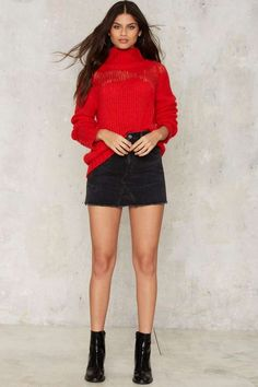 Glamorous New Dawn Fades Turtleneck Sweater - Clothes | Pullover