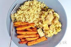 Recepty s kuracím mäsom Archives - FitRecepty Home Recipes, Cooking Recipes, No Cook Meals, Granola, Risotto, Grains, Good Food, Bread, Tofu