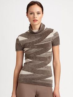 Armani Collezioni - Striped Chenille Sweater