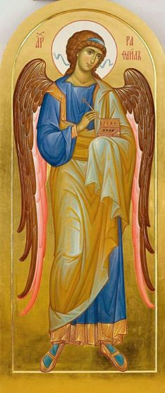 The Holy Archangel Raphael. Religious Images, Religious Icons, Religious Art, Byzantine Art, Byzantine Icons, Catholic Archangels, St Raphael, Angel Images, Angels In Heaven