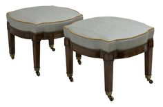 Quatrefoil Stool   Traditional, Leather, Upholstery  Fabric, Stool by Andrew Law Interior Design