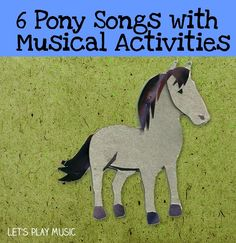 Here is a collection of musical activities and pony songs. Including knee bobbing songs for toddlers, rhythm and movement activities and note value games. Movement Preschool, Preschool Music, Music Activities, Infant Activities, Preschool Activities, Lets Play Music, Music For Kids, Toddler Music, Songs For Toddlers