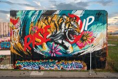 MEGGS – RISE UP MURAL (VIDEO) #meggs #riseup #mural #detroit #streetart #eyeofthetiger #video