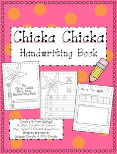 Chicka Chicka Boom Boom Handwriting Book.....get open house project....I love picking a book to base or get together off of!