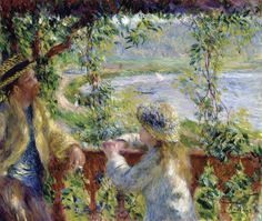 By the Water (Near the Lake) - Pierre-Auguste Renoir