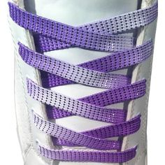 bce1ad2effe0 Purple shoelaces in a gradient color with a glitter-effect.
