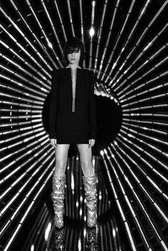 Campaign: Yves Saint Laurent. Photography: Collier Schorr. Styled by: Alastair McKimm. Hair: Holli Smith. Makeup: Kanako Takase. Models: Binx Walton, Charlotte Gainsbourg, Dalibor Urosevic, David Friend, Hiandra Martinez, Louis Marzin and Mica Argañaraz.
