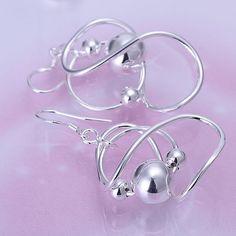 925-sterling-silver pendientes, 925 joyas de plata plateó la joyería moda, Bean pendientes E071 / cfyakxfa dxgamona
