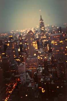 city lights...makes you believe....