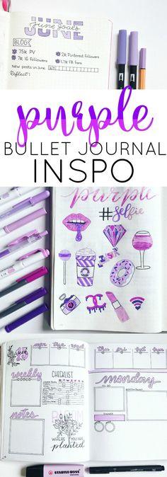 Purple Bullet Journal Inspiration