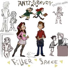Anti-Gravity AU (in which Wendy and Soos are the kids who found the journal, and Dipper and Mabel are teenage residents of Gravity Falls)