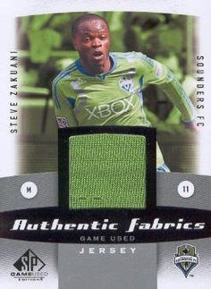 2011 Upper Deck SP Game Used Edition Soccer Authentic Fabrics Jersey #AF-SZ Steve Zakuani Seattle Sounders FC MLS Memorabilia Trading Card by SP Game Used. $8.00. 2011 Upper Deck Co. trading card in near mint/mint condition, authenticated by UpperDeck
