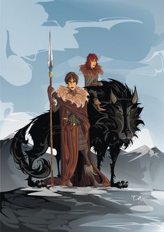 Osha, Rickon and Shaggydog by dejan-delic.deviantart.com on @deviantART