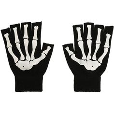Skeleton Fingerless Gloves Hot Topic (81 ZAR) ❤ liked on Polyvore featuring accessories, gloves, fingerless gloves, white fingerless gloves, white gloves, skeleton fingerless gloves and skeleton gloves