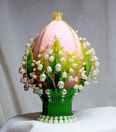 Pam Carter isn't this awesome.  Beautiful beaded Easter Eggs