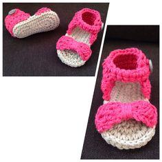 Crochet baby newborn sandals.  Custom order yours now!