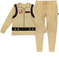 Look ready for action this Halloween even when you're lounging at home in a two-piece pajama set for adults! The long-sleeve top is beige to look like the Ghostbusters' jumpsuits complete with a printed belt and logo details on front and a printed proton pack on back. Complete the comfy look with matching beige jogger-style pants. Ghostbusters Pajamas product details:  Long-sleeve beige top  Wrist cuffs Printed logo and zipper details on front Printed proton pack on back   Jogger-style pants  Ti Halloween Pajamas, Group Halloween Costumes, Halloween Party Decor, Halloween 2020, Halloween Kids, Ghostbusters Theme, Ghostbusters Birthday Party, Ghostbusters Costume, Universial Studios