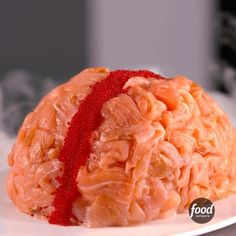 Make a Sushi Brain for Halloween!   Save the step-by-step directions by clicking the link in our profile!
