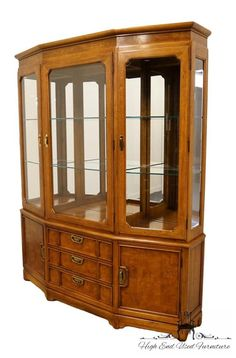 Thomasville Furniture Mystique Collection Asian 68 Illuminated Display China Cabinet 23321 430