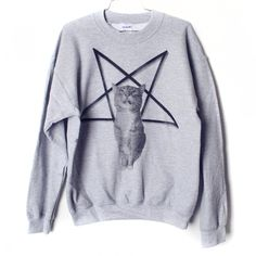 Lucifurr #Sweatshirt. $24 by Burger + Friends via #Etsy. #cats #tees