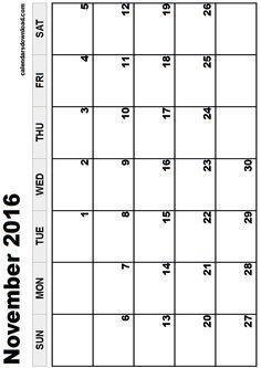 7 Best Images of Blank Printable Calendar 2016 8.5 X 11 ...
