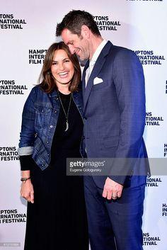 Mariska Hargitay and Peter Hermann attend the Awards Dinner at the Hamptons International Film Festival 2016 at Topping Rose on October 9, 2016 in Bridgehampton, New York.