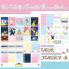 Free Printable Beauty & the Beast Planner Stickers for the Erin Condren & Recollections Planner - Planner Onelove