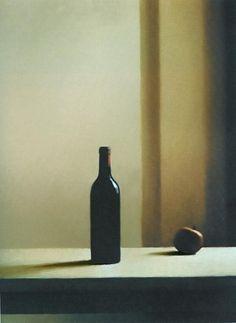 flasche mit apfel, gerhard richter, 1988.