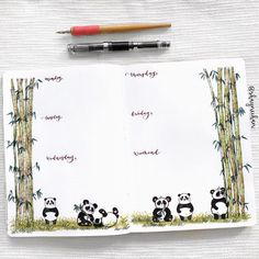 I had to feature one of my favourite animals in a spread!! I could spend hours watching hilarious videos of chubby baby pandas getting…