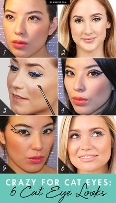 6 creative cat eye tutorials! Which one to try first?