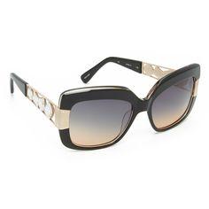 85b5aea4adb Oscar de la Renta Crystal Glam Sunglasses (680 AUD) ❤ liked on Polyvore  featuring
